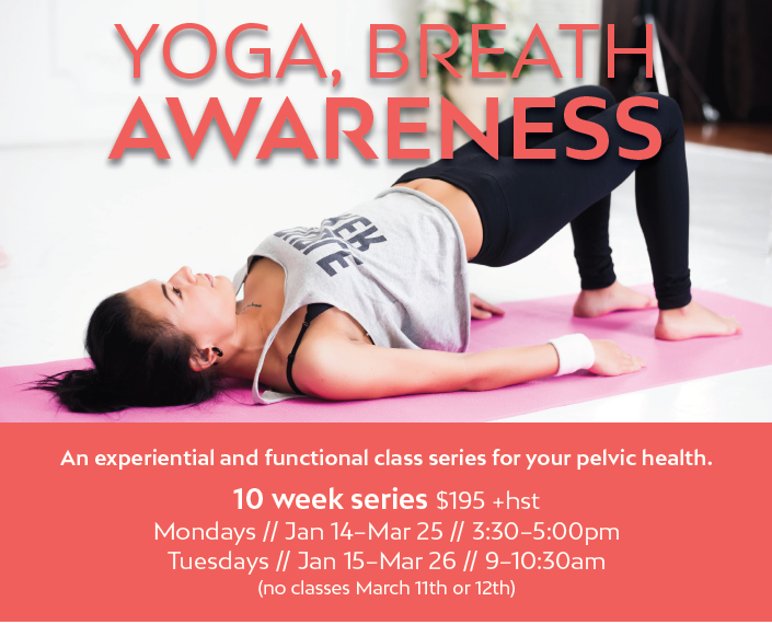 Yoga, Breath and Awareness!!- Monday Class @ Guelph Women's Health Associates